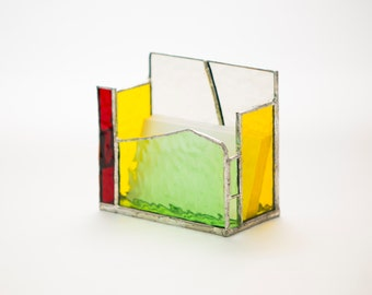 Stained Glass Pen Pot/Candle Holder
