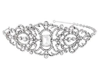 Vintage bridal Headband, bridal hair jewellery, vintage couture, bridal