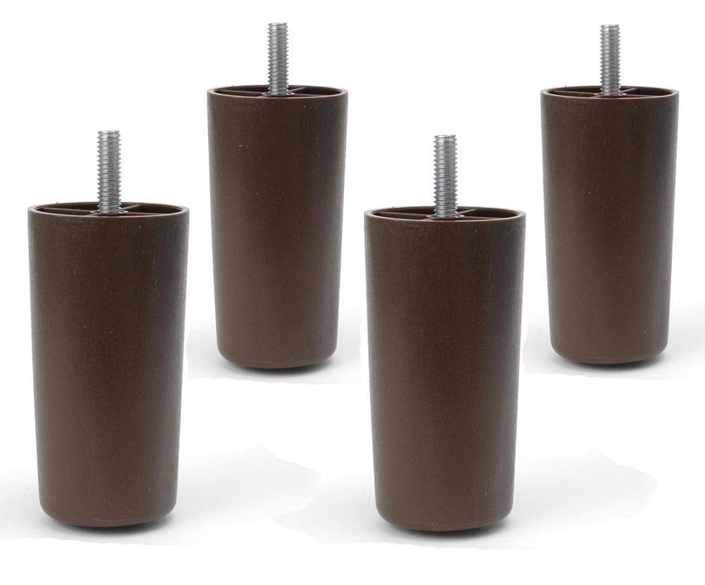 4 Universal Dark Brown Plastic Furniture Legs Sofa Couch Chair Set Of 4 From Craftsupply101