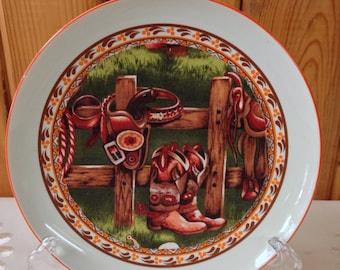 Fabric Art On Plate