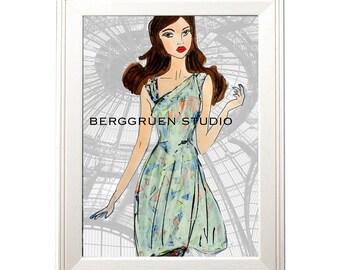 Summer Breeze Dress - Fashion Illustration Print