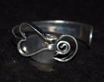 Fork Art Heart Bracelet made from a stainless steel fork!