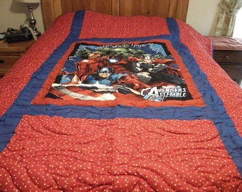 Avengers Quilt Made to Order