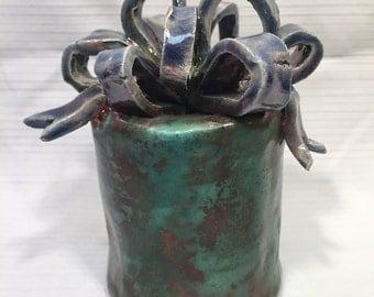 Original Handmade Raku Clay Sculpture - Present
