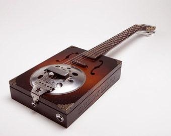 Daddy Mojo Resophonic six string Cigar Box Guitar