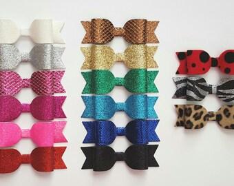 CREATE YOUR OWN glitter headband or glitter hair clip, glitter hair bow - toddler headband - baby headband - infant headband