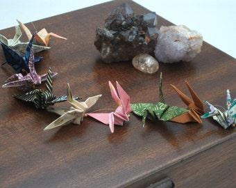 Origami crane mobile handing / 10 Multi coloured cranes / No. 3855
