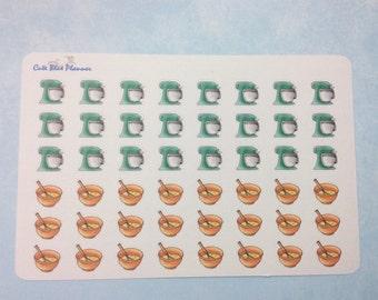 Baking/ Mixer/ Mixing Bowl  Sticker (Glossy/Matte)