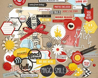 Project Mouse: Elements - Perfect for Project Life & Digital Scrapbooking Disney, Mickey Mouse