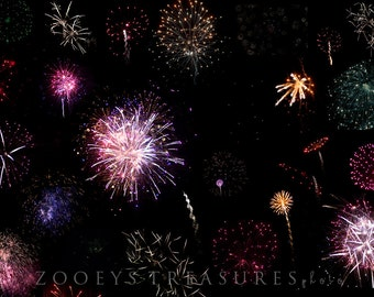 55 Firework Overlays by Hoppman Photography