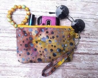 Batik Cosmetic Bag/Cellphone carrier