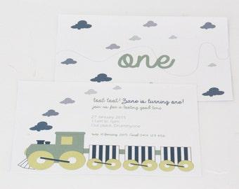 Toot! Toot! cute train invitation