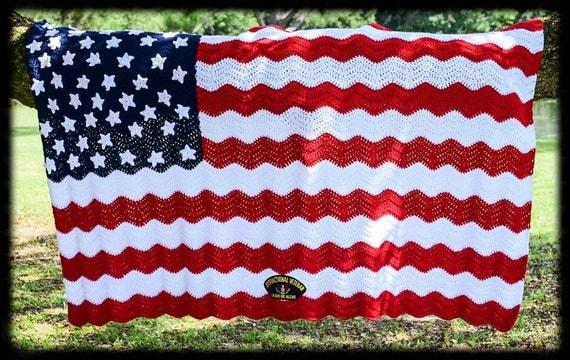 American Flag A Soldier S Pride Crochet Afghan Pattern