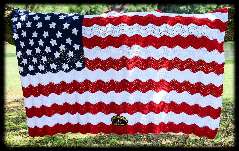 Crochet Pattern For Usa Flag : American Flag: A Soldiers Pride Crochet Afghan Pattern