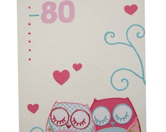 PRETTY pink OWL baby growth chart