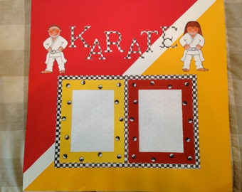 Karate Pre-made scrapbook page