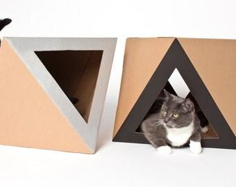 Octacat Black   Cardboard Cat House