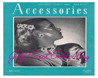 Instant Download - Accessories - PDF Pattern Book, Vintage Crochet