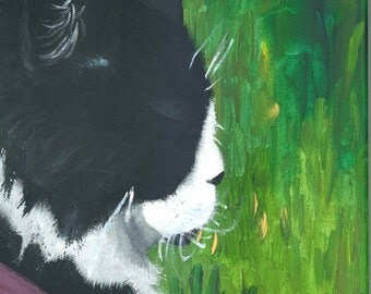 Cat painting - reproduction
