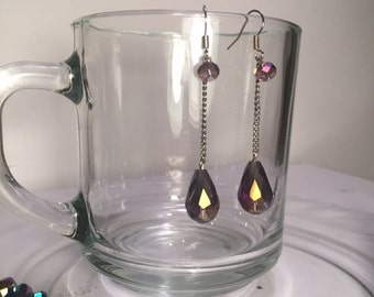 Paris Group 1 - Lilac Drop Earrings