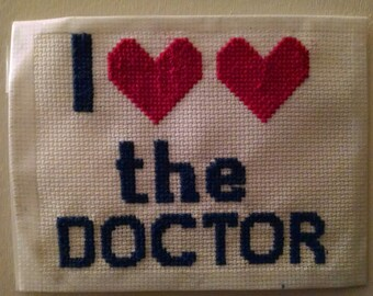 I *heart* *heart* the Doctor cross stitch