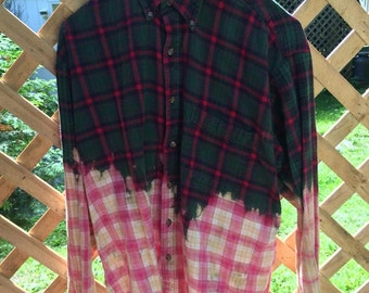 Ombre Bleached Flannel-Large