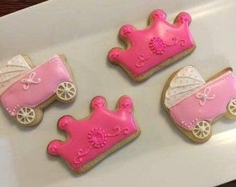 Pretty in Pink Princess Sugar Cookies