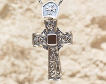Sterling Silver Shablool Cross, with New Testament Nano Bible