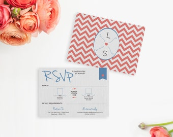 Chevron Wedding RSVP
