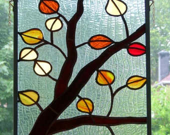 Clortful  Foliage Scenary in Stained Glass