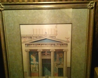 """Jacques Ignace Hittorff """"Temple of Athena"""" John Richard Gallery Collection"""