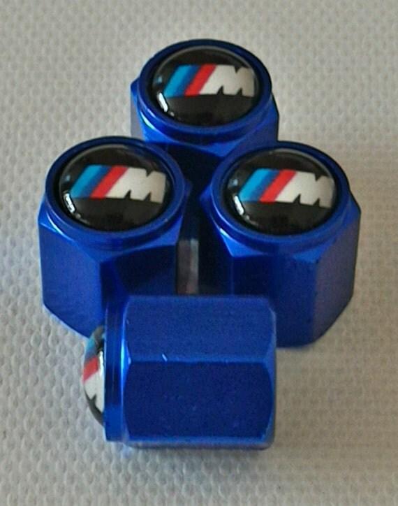 Bmw M3 Blue Tire Valve Dust Caps E30 M5 X5 X3 Series 1 3 5 7