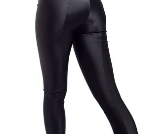 Black footed spandex leggings / tights