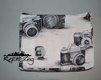 Camera print pencil pouch