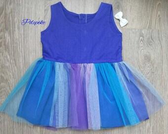 Sleeveless summer Tulle Dress for kids