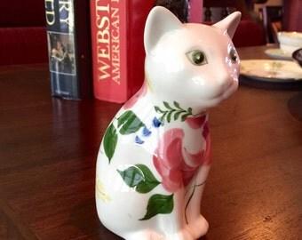 Hand-painted Porcelain Cat
