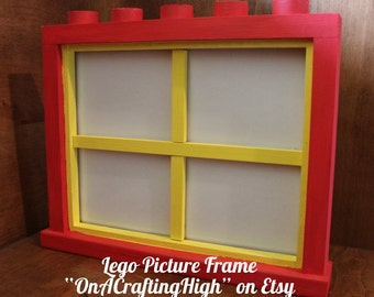 Lego Inspired Picture Frame with Dividers