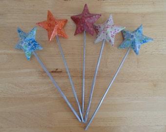 Lovely Decopatch Star Wands
