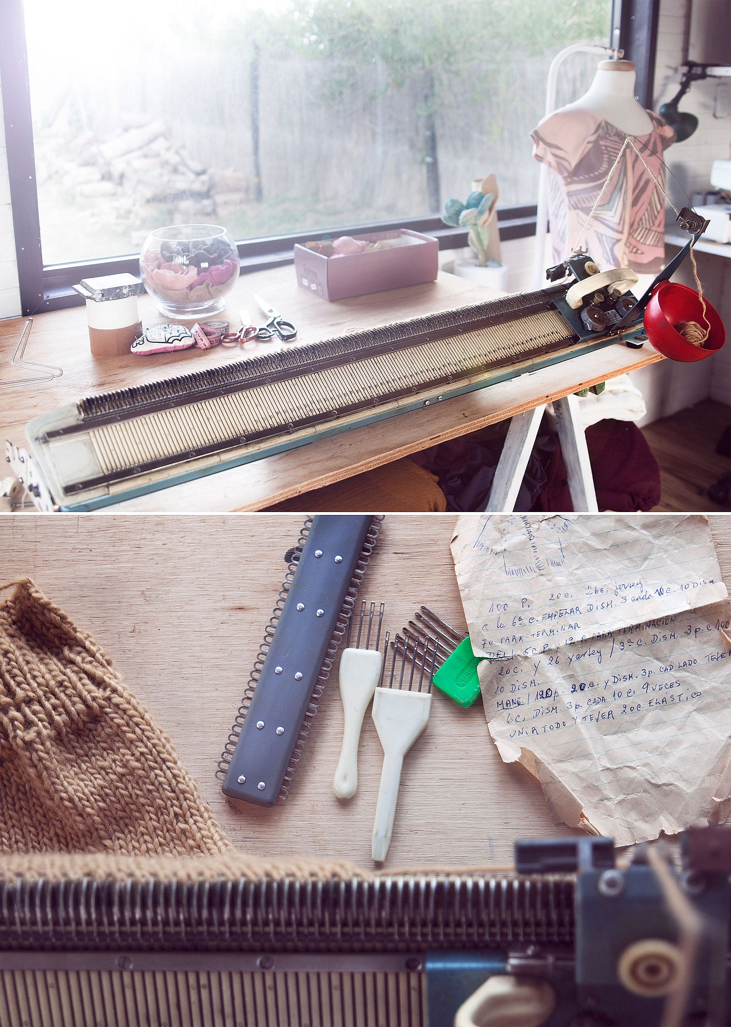 Texturable knitting machine