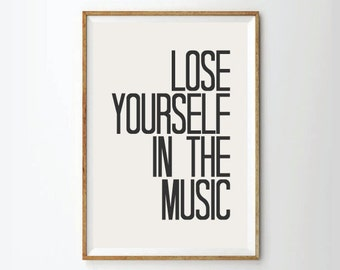 Inspirational quotes, quote prints, quote posters,music, typography poster, lyrics art,music quotes, Poster,quotes