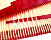 Weaving Loom Kit, Beginner, DIY, Learn to Weave, Cherry Red
