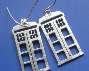 Dr Who Tardis Earrings