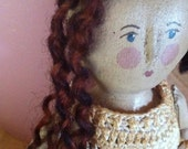 Spoolie Spun Wool Doll Hair Dark Rich Auburn