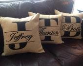 Split Monogram Pillow Cover