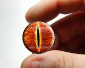 Glass Eyes - Eye of Sauron - Lord of The Rings Glass Taxidermy Eyes  - Pair or Single - You Choose Size