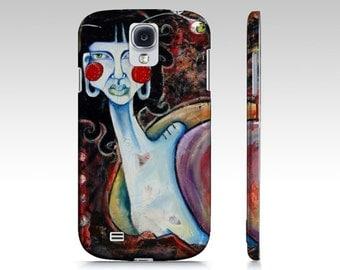 Art cell phone case SNAIL GIRL iphone 5/5s, iphone 7 6/6s samsung galaxy s7 s6 s5 original art of Ela Steel lowbrow surreal strange weird