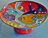 Mid Century Modern Space Snack Bowl