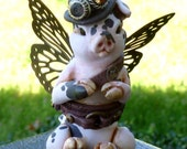 Butterfly Steampunk Pig Myxie Pal Sculpture