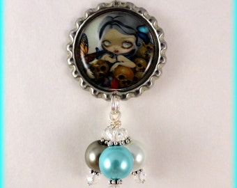 "Jasmine Becket Griffith  "" Butterfly and Bones ""  necklace"