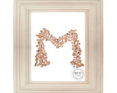 Letter M Wooden Fairytale Tree Trunk Initial DIY Printable Monogram Photograph Instant Download